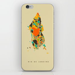 Rio map iPhone Skin