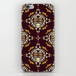 pattern with Tribal mask ethnic on dark iPhone Skin