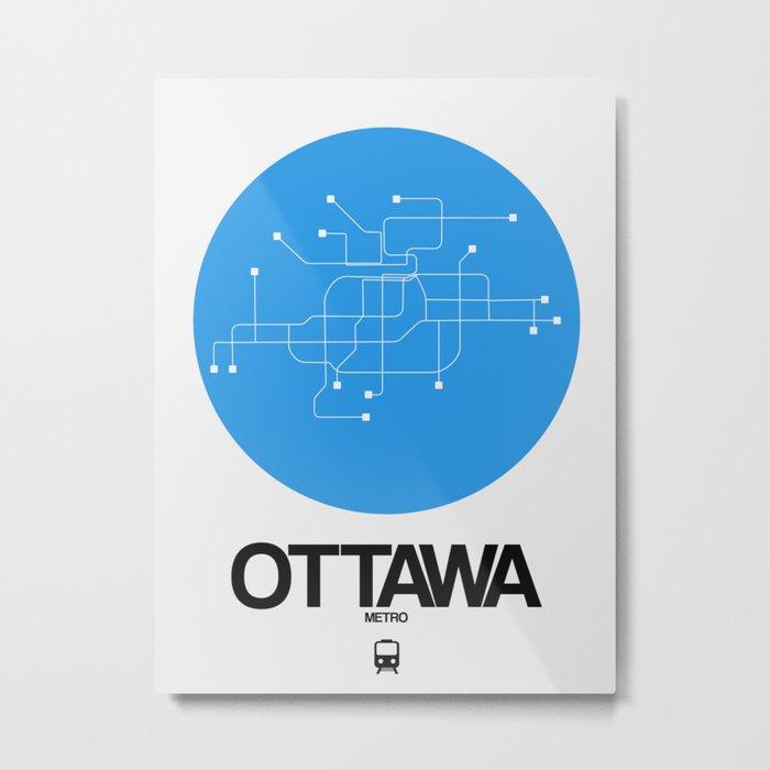 Ottawa Subway Map.Ottawa Blue Subway Map Metal Print By Naxart