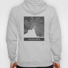 Melbourne map blue Hoody
