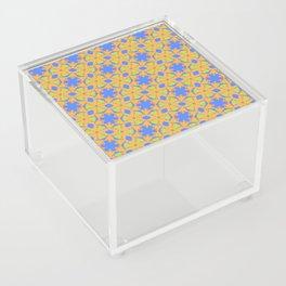 Geometric Name Pattern Acrylic Box