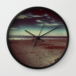 Empty Nets and Sandy Beaches Wall Clock