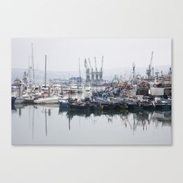 Tangier Docks Canvas Print