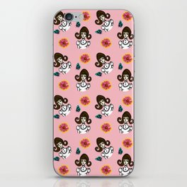 girl with dress  pink iPhone Skin