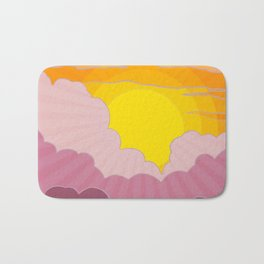 Sixties Inspired Psychedelic Sunrise Surprise Bath Mat