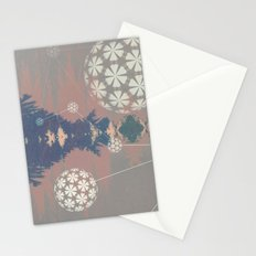 Natural Grid Stationery Cards