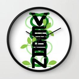 Vertical Vegan Wall Clock