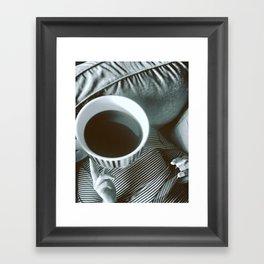 Coffee thinks Framed Art Print