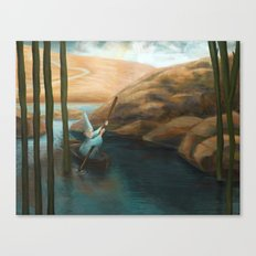 In his Boat Canvas Print