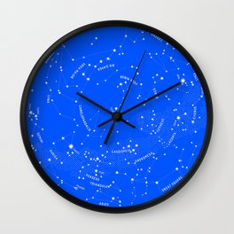 Constellation Map - Blue Wall Clock
