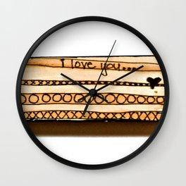 i love you... Wall Clock