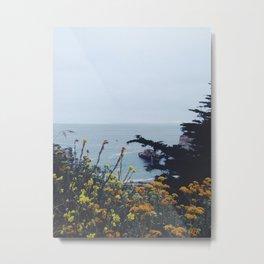 Floral Coast at Dusk Metal Print