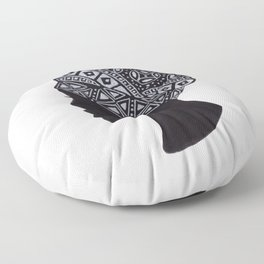 The Exotic of Turban Woman Floor Pillow