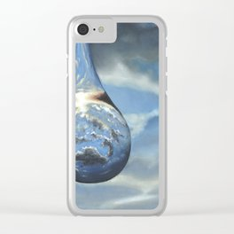 Tears In His Bottle Clear iPhone Case
