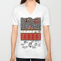 ethnic V-neck T-shirts featuring ETHNIC by CaritoMo