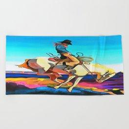 Cowboy Beach Towel