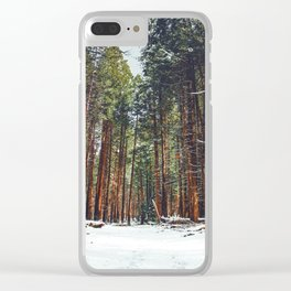 The Winter Forest (Color) Clear iPhone Case
