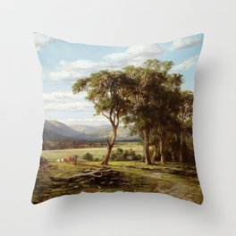 Louis Buvelot - At Lilydale (1870) Throw Pillow