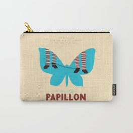 Papillon, Steve McQueen vintage movie poster, retrò playbill, Dustin Hoffman, hollywood film Carry-All Pouch