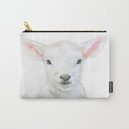 Lamb Face Watercolor Carry-All Pouch