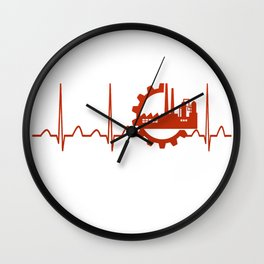 Industrial Engineer Heartbeat Wall Clock