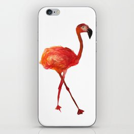 Flamingo watercolor iPhone Skin