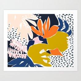 Modern flowers - design for a happy life Art Print