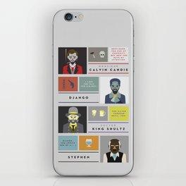 Django Unchained Character Poster iPhone Skin