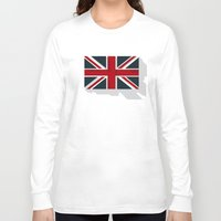 union jack Long Sleeve T-shirts featuring Union by rob art | simple
