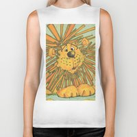 lion king Biker Tanks featuring Lion King by coconuttowers