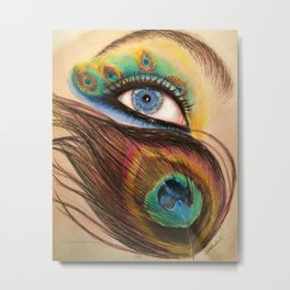 Peacock Eye Metal Print
