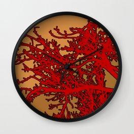 Blood Coral Wall Clock
