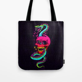 snakes on the brain Tote Bag
