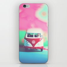Red & White Vintage Bus iPhone & iPod Skin