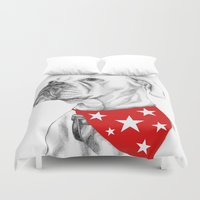 boxer Duvet Covers featuring Boxer by Natasha Maiklem