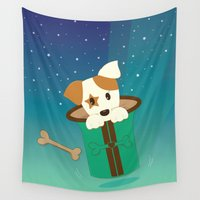 jack Wall Tapestries featuring Magical Jack by Graphic Tabby