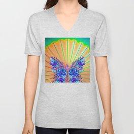 Psychedelic Butterfly Unisex V-Neck