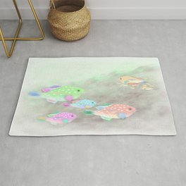 Families of Fish Rug