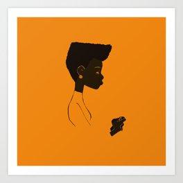 The black art Art Print