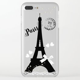 Paris III Clear iPhone Case