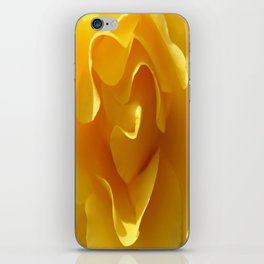 Yellow Rose Ruffles Abstract iPhone Skin