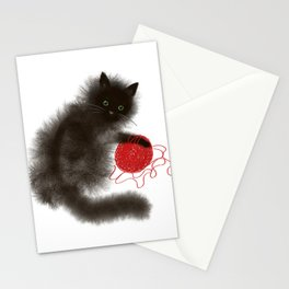 Mischievous cat Stationery Cards