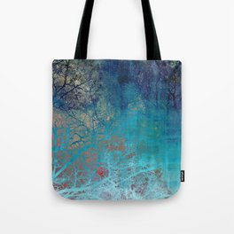 On the verge of Blue Tote Bag