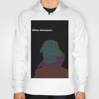 shakespeare Hoodies featuring William Shakespeare by Jamie Carroll