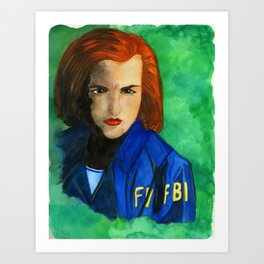 Agent Scully FBI Art Print