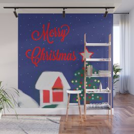 Merry Christmas Wall Mural