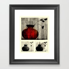 Vase Collage (focal) Framed Art Print