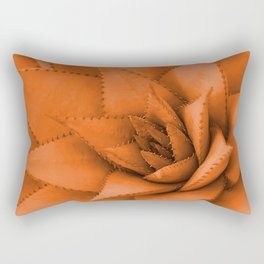 Floral Big Succulent orange Illustration +society6 Rectangular Pillow