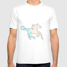 Horse White MEDIUM Mens Fitted Tee