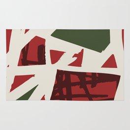 Modern Christmas Pattern Print Design Rug